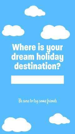 Dream Destination Instagram Story Holiday
