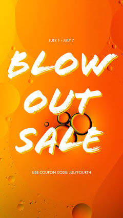 Blow out sale Yellow