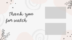 Pink and Grey Blogger Influencer Social Youtube Outro Thank You Poster