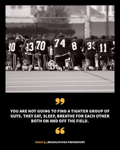 Black, White and Yellow Sport Quote Instagram Portrait Football