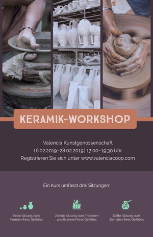 KERAMIK-WORKSHOP Business-Flyer