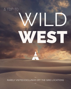 Brown and Blue Wild West Travel Instagram Story with Teepee in Desert Desert