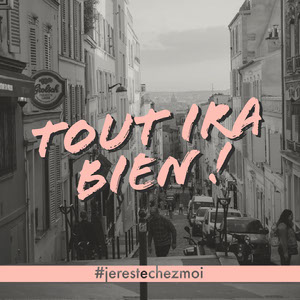 Black and White Photo With Pink Type Instagram Square Texte sur les photos