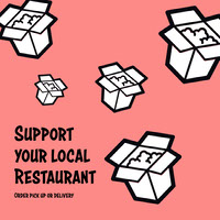 support local restaurant instagram  COVID-19 Re-opening