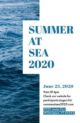 Summer At Sea Flyer Folleto de invitación a evento