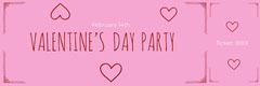 Pink Hand Drawn Valentine's Day Raffle Ticket Valentine's Day