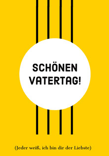 yellow Father's Day cards  Vatertagskarten