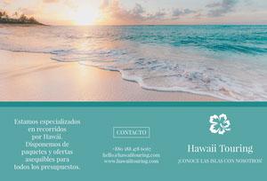 Hawaii touring travel brochures  Folleto