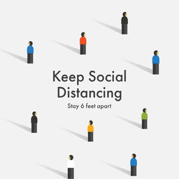 Simple Illustration Social Distancing Announcement