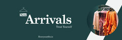 Teal New Fashion Store Collection Horizontal Ad Banner New Collection