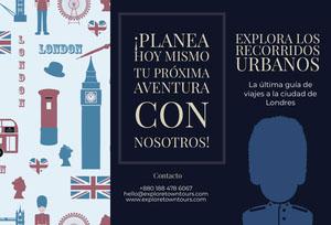 explore town tours London travel brochures  Folleto