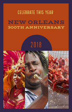 Orange With Photos New Orleans Poster Celebration