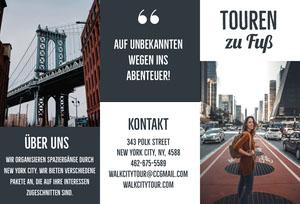 New York City walking city travel brochures  Flugschrift