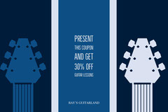Blue and Navy Blue Guitar Lesson Promotion Educational Course