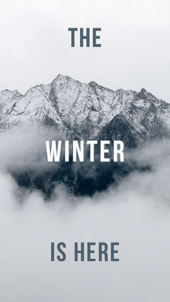 Winter is Here Phone Background Mountains