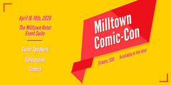 Bright Red and Yellow Comic Convention Eventbrite Banner Event Banner