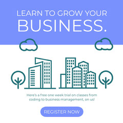 Learn to grow your business. Tech