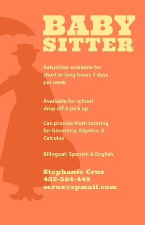 BABY <BR> Babysitting Flyer