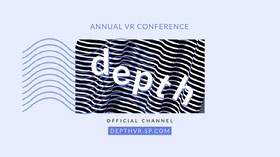 Blue and Black Depth Vr Stripes Youtube Channel Art Banner per YouTube