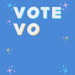 Colourful Vote Vote Vote Vote Instagram Square Voting