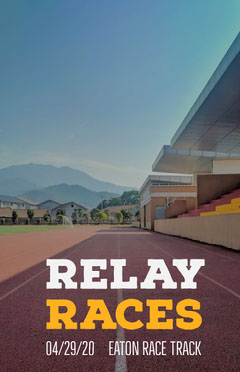 Sports Track Relay Races Flyer Sports