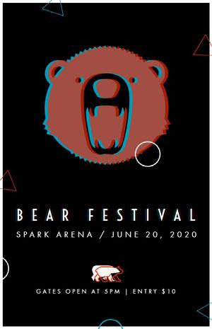 BEAR FESTIVAL Concertposter