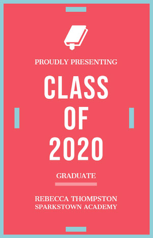 Pink and White Graduation Poster Graduation Poster