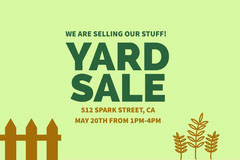 YARD<BR>SALE Yard Sale Flyer