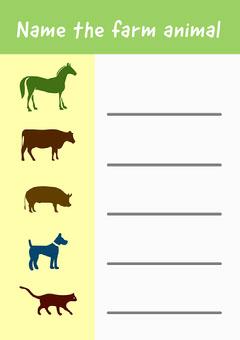Name the farm animal A4 Cat