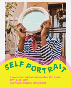 Green & Yellow Workshop Instagram Portrait  Workshop