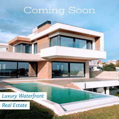 Real Estate Coming Soon Property For Sale Announcement House For Sale Flyer