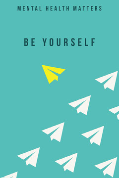 mental health be yourself poster Planes