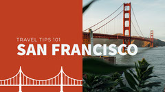 Red San Francisco Travel Vlog YouTube Thumbnail with Bridge California