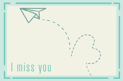 Cyan Paper Jet Trail I Miss You Virtual Card  Planes