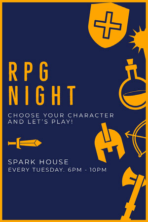 RPG NIGHT Spillekort