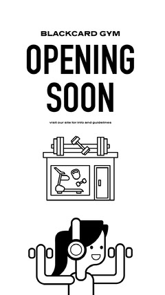 gym reopening instagram story Gym