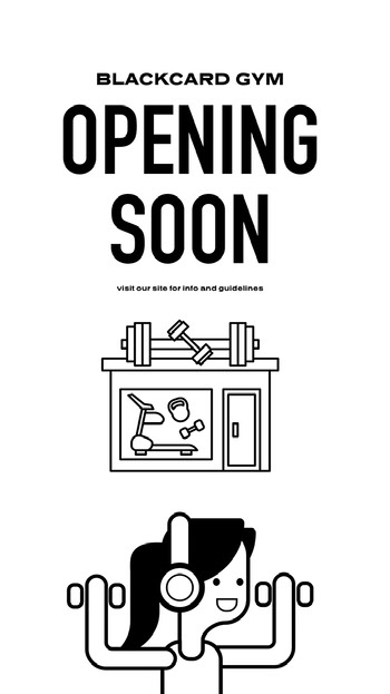 gym reopening instagram story COVID-19 Re-opening