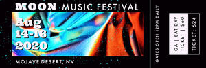 Blue White and Black Moon Music Festival Ticket Poster per festival musicali
