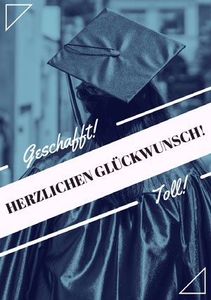you did it graduation congratulations cards  Glückwunschkarte