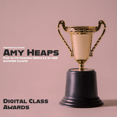 Pink and Gold Trophy Digital Class Awards Instagram Square Graduation Congratulation