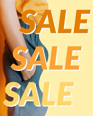 Retail Store Sale Announcement Cupón