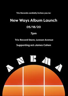 Black and Orange Circle Grid Album Release Concert Invitation Card  Launch