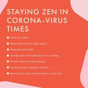 Red Coronavirus Advice Instagram Post Affiche Lavez-vous les mains