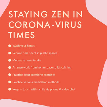 anxiety tips for coronavirus Instagram post COVID-19