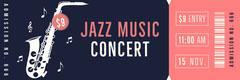 Navy and Pink, Jazz Concert Event Ticket Jazz