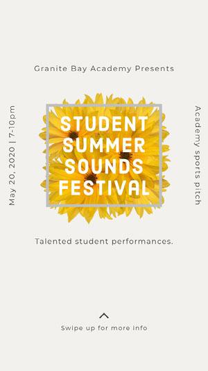 Student Festival Music Festival Poster