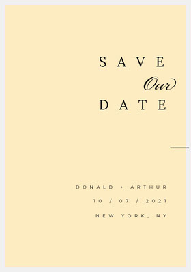 DATE Save the Date Card