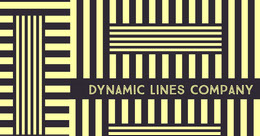 Yellow and Black Dynamic Line Company Linkedin LinkedIn-banner