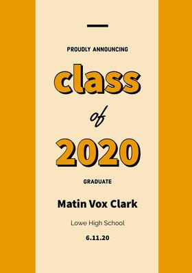 class <BR>2020 Graduation Invitation