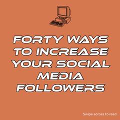 Orange Social Media Followers Instagram Square Social Media Flyer
